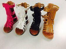 New Fashion Gladiator Sandals Fringe Shoes Baby's Toddler Infants Sizes 4-8