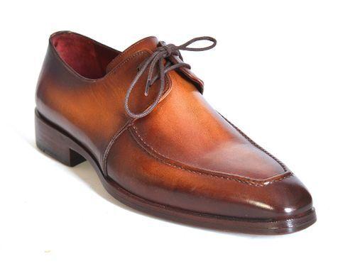 PAUL PARKMAN BROWN LEATHER APRON DERBY SHOES FOR uomo (ID#33SX92) Scarpe classiche da uomo