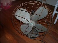 Vintage Emerson Electric Cage Fan Model 79648 Oscillating 3 Speed Working Fan