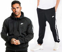 Mens Polyester Woven Black Nike Full Tracksuit Hooded Joggers Pants S - Xl