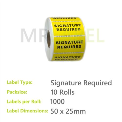 Mr-Label Signature Required Notice Warning Parcel Packing Roll Labels Stickers