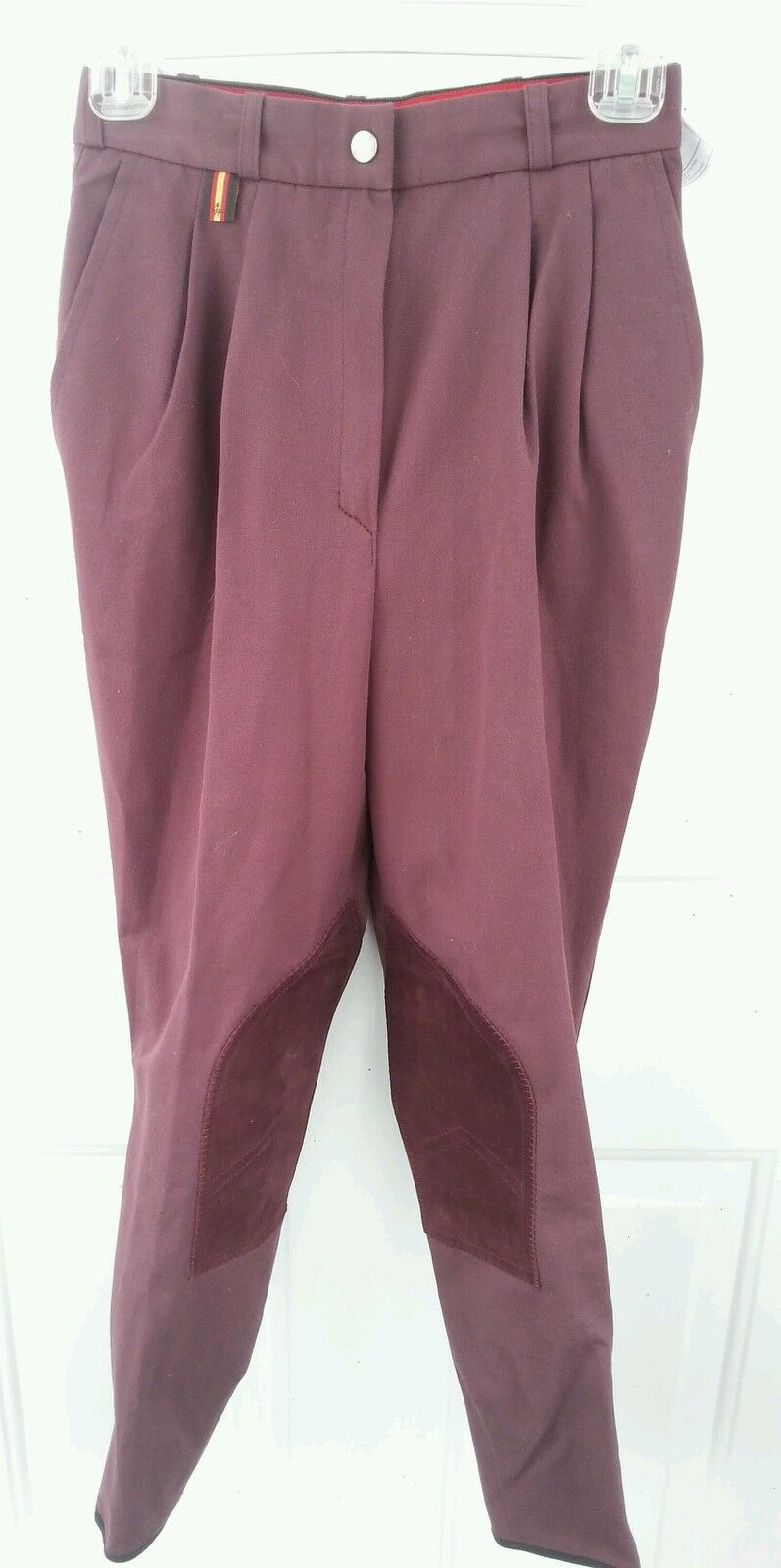 NWT GEORG AACHENER SZ 26 Pleated Front Zipper Riding Breeches 26R pinkwood