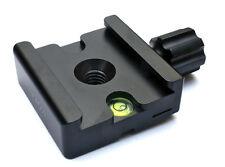 """Fotopanda 50mm Quick Release (QR) Adaptador Abrazadera-Arca Swiss compat 1/4"""" 3/8"""" M6"""