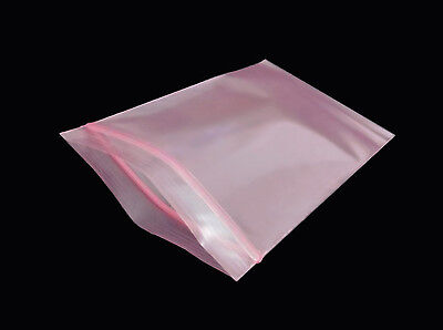 "2 Mil Ziplock Reclosable Poly Bags 3 x 5/"" Pink Anti Static Bags 100"