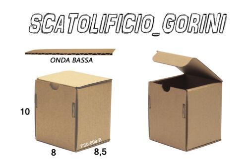 18 PZ SCATOLE CARTONE 8x8,5x10 FUSTELLATE  SPEDIZIONE MINUTERIA OGGETTI PICCOLI