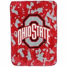 Ohio State Buckeyes College Covers 63 x 86 Soft Raschel Plush Throw Blanket