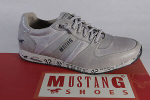 Mocassins Mustang cuir Gris Basses Chaussures Sport Neuf Simili BwxFw