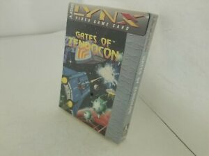 NEW-W-CREASED-BOX-Factory-Sealed-GATES-OF-ZENDOCON-Game-for-Atari-Lynx-G96