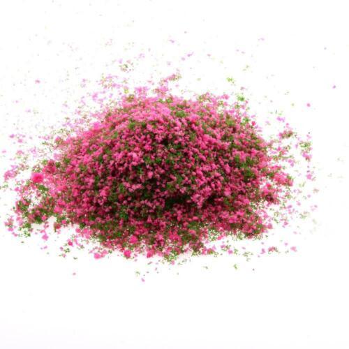 Rose Red Green Foliage Model Scenic Material for Mini Tree DIY Decor Model