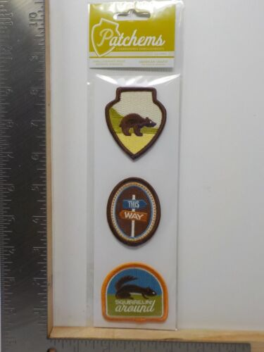 AMERICAN CRAFTS PATCHEMS CAMPY SQUIRREL EMBROIDERED EMBELLISHMENTS A11588