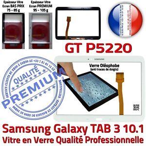 Vitre-Tactile-GT-P5220-TAB-3-Assemblee-Adhesif-Premonte-Samsung-Ecran-Blanc
