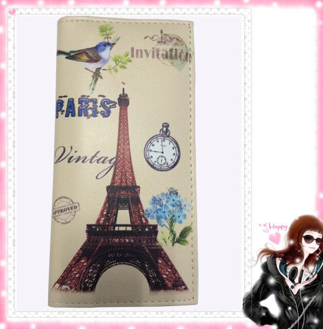 Lady Women's Long Purse Clutch Wallet Design Printing Bag Card Holder finus