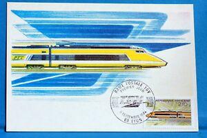 RAME-POSTALE-TGV-FRANCE-CPA-Carte-Postale-Maximum-Yt-2334-C