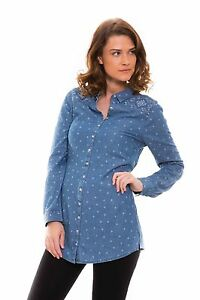 Ex-Per-Una-Marks-and-Spencer-Denim-Shirt-Tunic-with-Tie-Back-Size-6-24-P24
