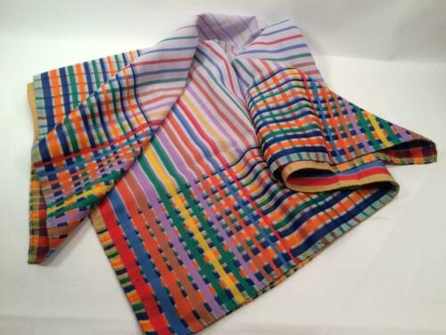 "MULTI COLOR STRIPES SCARF BANDANA 25"" x 27"""