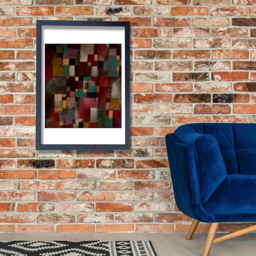 Paul Klee - rotGrün & lila Gelb Rhythms Wall Art Poster Print