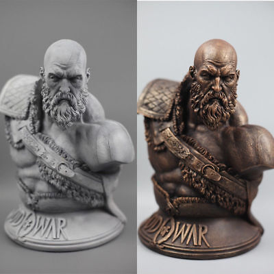 """God of War 4 Kratos 1//3 Scale Bust Resin Statue Figure 11/"""" High Two Versions"""