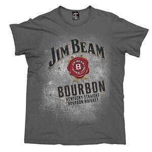 JIM-BEAM-Grey-Black-Men-039-s-T-Shirt-CHOOSE-SIZE-S-M-L-XL-2XL-3XL-Christmas-Gift