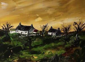 ORIGINAL-PAINTING-Acrylic-On-Canvas-Welsh-Farm-40x30cm