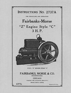 Fairbanks-Morse-3-HP-Z-Style-C-Instructions-No-2737A