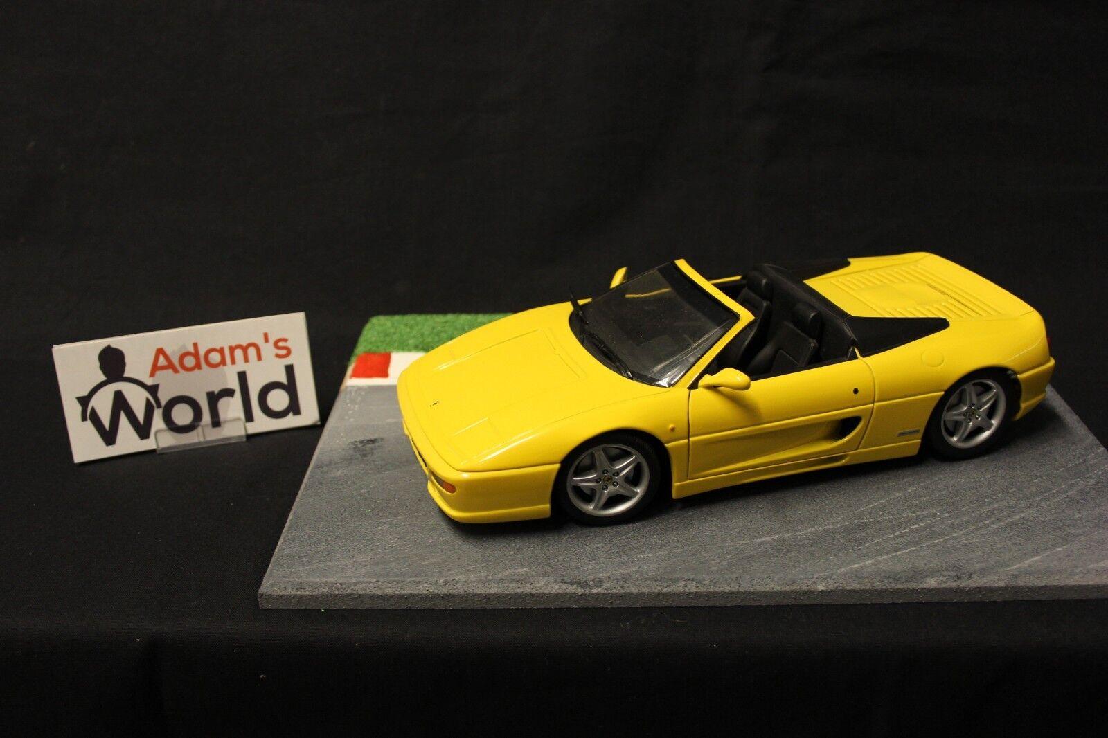 UT Model Ferrari F355 Spider 1 18 amarillo (FNB)