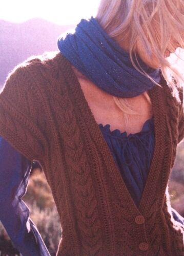 Femme Câble Avec Empiècements Gilet Knitting Pattern