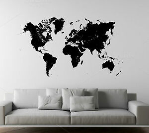 Wall Stickers Mondo.Details About Wall Stickers Wall Sticker Map World Mural High Definition Show Original Title