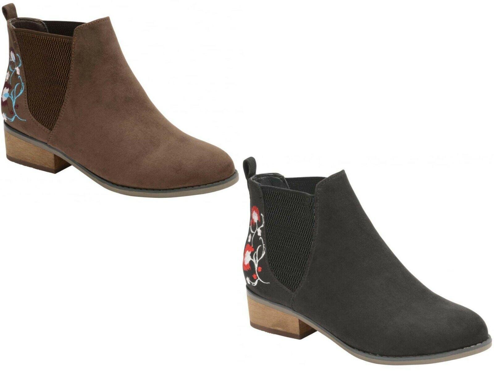 Ladies Dolcis Chelsea Women's Dealer Memory Foam Faux Suede Comfort Ankle Boots