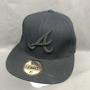 Details about Atlanta Braves MLB New era Black 59FIFTY Embroidered Fitted  Hat Cap 7 5/8 USA