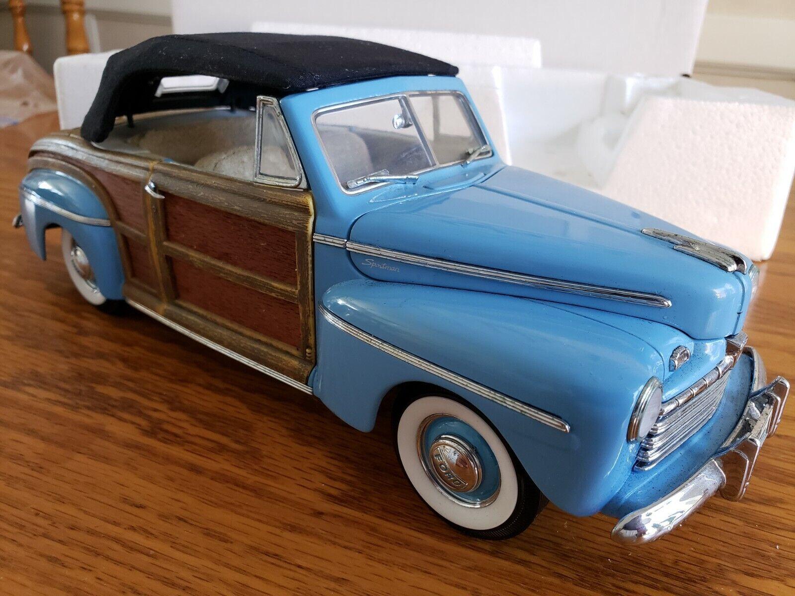 Signature  Models Ford 1946 Super SPORTShomme boisY 1 18 Scale Die Cast E  bienvenue à l'ordre