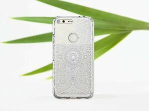 White-Mandala-Cover-For-Google-Pixel-3a-XL-Boho-Google-Pixel-2-3a-Silicone-Cover