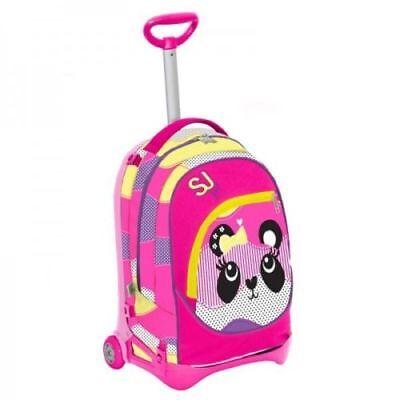 Ambizioso Trolley Jack Staccabile Sj Gang Zaino Girl Scuola Rosa Animal + 3 Maxiquaderni Chiaro E Distintivo