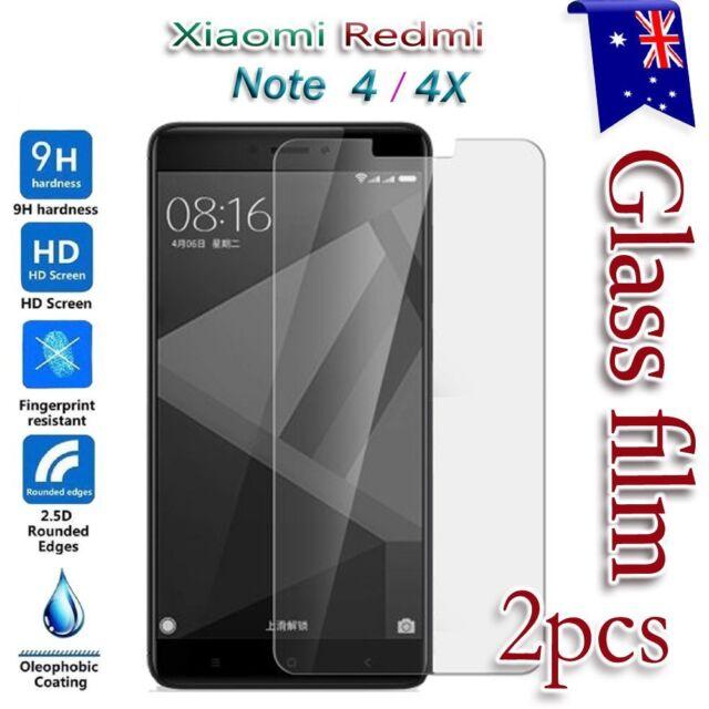 2X Xiaomi Redmi Note 4 4X Tempered Glass / Plastic Screen Protector Film Guard