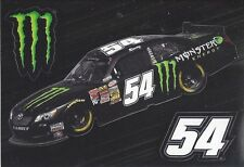 """KYLE BUSCH """"MONSTER ENERGY"""" #54 NASCAR DECAL STICKER 3 STICKERS ON THIS"""
