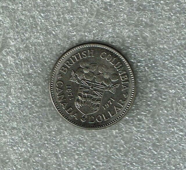 1871-1971 Souvenir British Columbia Centennial Dollar