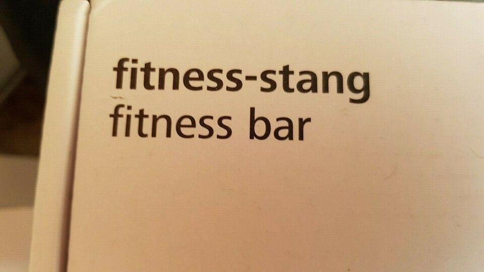 Elastik, Fitness stang, Fitness stang