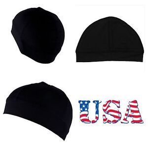 5235e1d6a5d Men s Dome Cap Biker Football Skull Hat Helmet Liner Sports Beanie ...
