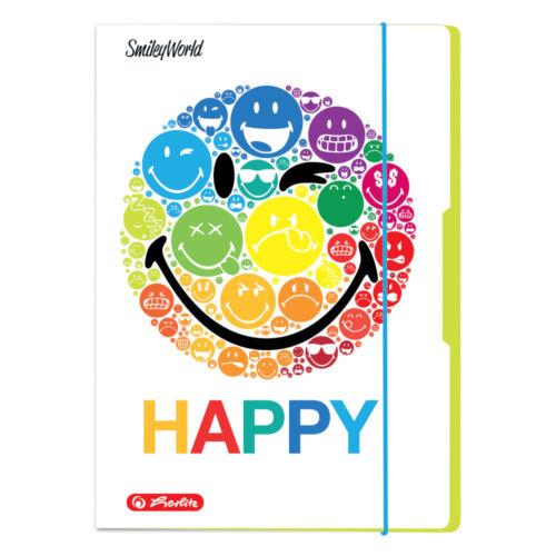 """/""""Smiley World Rainbow/"""" Herlitz Sammelmappen DIN A4"""