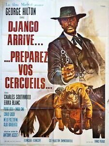 Plakat-Kino-Western-Django-Kommt-Preparez-Deine-Saerge-120-X-160-CM