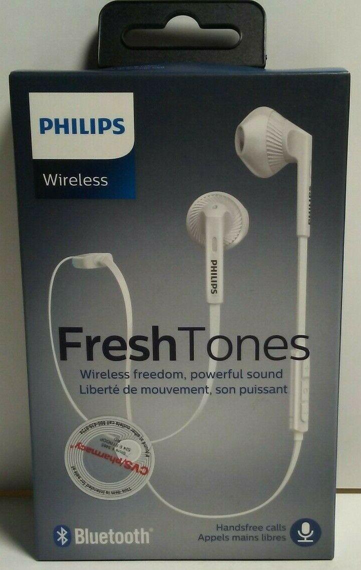Philips Shb5250 Freshtones Myjam In Ear Wireless Bluetooth Headset White For Sale Online Ebay