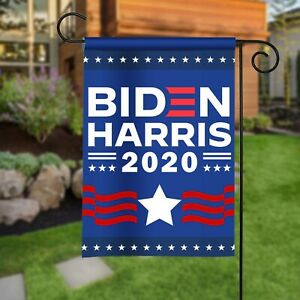 Biden Harris 2020 Garden Flag Kamala Harris Political Flag Biden For American Ebay