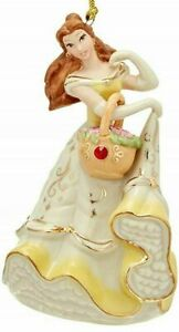 Lenox  Beauty /& The Beast  Princess BELLE with Gem  Ornament  NEW