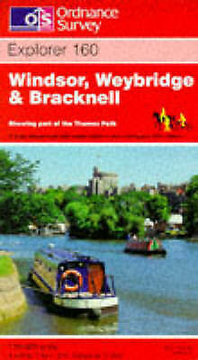 Windsor, Weybridge and Bracknell (Explorer Maps), Ordnance Survey, Very Good
