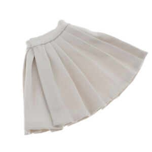 1-6-Fashion-Female-Pleated-Skirt-Clothes-Outfit-White-for-Doll-Accessory