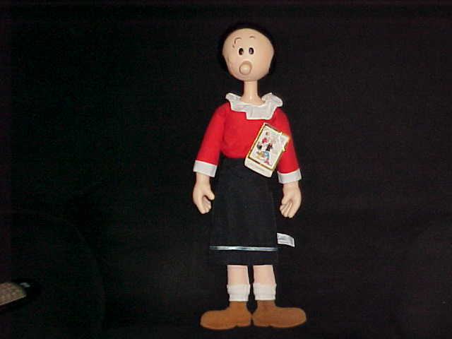 19  Popeye Olive Oly Plush Doll With Tags By Presents 1987 Very Nice