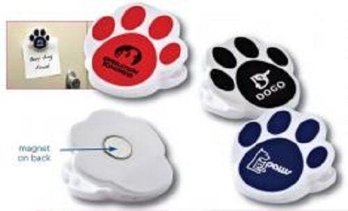 250 Animal Paw Magnet Clips personnalisé avec votre entreprise ou équipe sportive nom