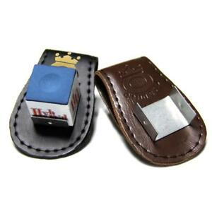 PU-Leather-Magnetic-Belt-Clip-Cue-Stick-Chalk-Holder-For-Pool-Billiards-Snooker