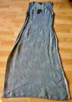 Poeme By Citron Blue Rayon/silk Long Sleeveless Dress Size M