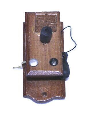 "Dollhouse Miniature White /""Vintage Look/"" Telephone"