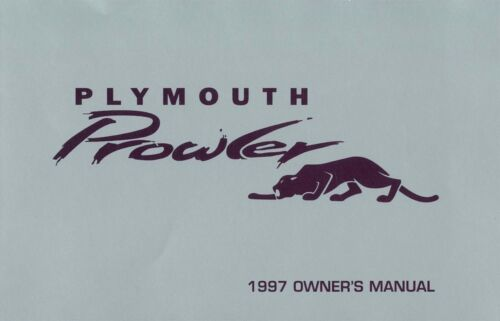 1997 Plymouth Prowler Owners Manual User Guide Reference Operator Book Fuses OEM